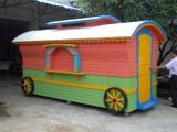 户外小吃车 创意售货亭 公园移动售卖亭 广场可移动售货车