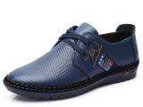 2014男士日常休闲鞋低帮系带皮鞋头层皮男鞋新款温州厂家批发零售