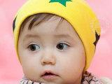 韩版男女儿童套头帽 春秋婴幼儿堆堆帽 五角星宝宝包头帽子TTM0