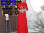 新款高档中式结婚晚礼服 新娘礼服唐装 红色新娘旗袍 厂家直销