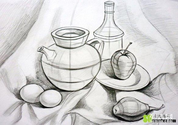 宁波素描培训 创意速写单个物体外形的基本绘画思路 艺彩教育图片