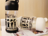 创意款BIGBANG韩版双层玻璃杯 卡通潮人保温水杯小熊情侣杯批
