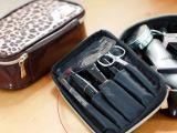 2014新款韩版漆皮豹纹印花大容量化妆包 手提收纳袋 厂家直销