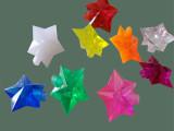 厂家低价直销/白色五角星塑胶配件/节日装饰彩带LED灯外壳/导光