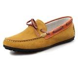 厂家直销男豆豆鞋拼色真皮套脚懒人鞋糖果色休闲鞋舒适低帮鞋男