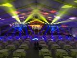 顺德庆典舞台背景开业庆典水雾风扇户外展位帐篷搭建铁马贵宾椅