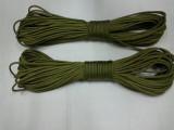 厂家直销 550磅七芯伞绳 黑色 军绿色 花灰迷彩七芯伞绳