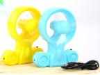 创意礼品 夏季办公室必备 创意摩托车造型USB充电风扇 两用风扇