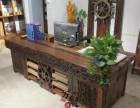 老船木茶桌椅组合龙骨实木茶台功夫多功能茶几泡茶桌椅办公桌