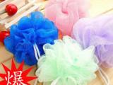 2554韩国可爱彩色沐浴球/浴擦/浴花 洗澡必备 洗浴用品批发