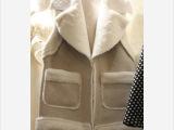 韩国东大门代购秋冬新款羊皮加厚羊羔绒马甲女时尚甜美百
