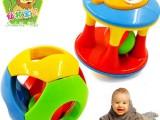 铃铛手抓球 4色颜色认知宝宝玩具 宝宝摇铃