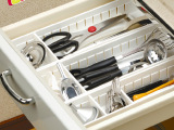 加古正品抽屉式收纳盒 厨房餐具收纳整理盒 创意分隔塑料收纳盒