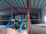 山东田农高效锯末颗粒机之广东潮州2吨生产线