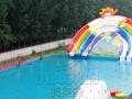 大型支架游泳池 充气水滑梯 厂家直销 价格最低哪家好
