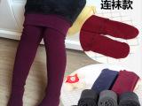 新款女童连裤袜冬季加绒加厚七彩棉儿童连裤