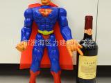 儿童玩具批发 电影版超人人偶模型 正义联盟 带灯42厘米超人玩具