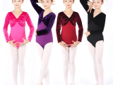 闺园儿童芭蕾舞服 形体训练服金丝绒拼接练功服 形体舞蹈服批发