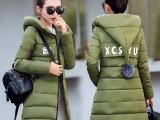 38块女装韩版热销羽绒服 热销女羽绒外套 中长款女外套处理