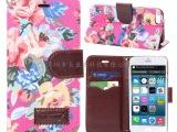 工厂现货 iphone6皮套 苹果6保护套 4.7 花布纹 插卡