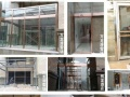 张家口不锈钢玻璃门 玻璃隔断 旋转门 肯德基门 伸