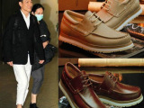 2014欧美新款P家L家男鞋刘德华李敏镐明星同款皮鞋牛皮休闲男士