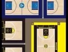 专业的室内纯木地板篮球场馆