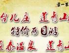 莲青山、台儿庄、盈泰温泉超低价两日游线路