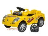 502562 雷诺斯遥控电动儿童汽车可充电红黄2色 遥控坐人童车