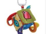 Lamaze玩具拉玛泽益智早教四方铃铛积木牙胶响纸-床挂婴儿玩具