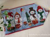 厂家直销—出口欧美涤棉提花圣诞餐垫/桌旗/台布