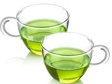 耐热玻璃杯茶具品茶杯小把杯花茶杯 带把透明小酒杯品茗杯咖啡杯