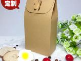 复古牛皮纸西点心盒 中秋冰皮月饼包装礼盒 蛋糕饼干盒 环保质感