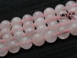 珠王水晶  天然粉晶散珠 手链珠 东海天然水晶半成品批发