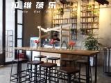 上海星巴克高脚椅美式乡村工业风吧桌椅吧凳定做