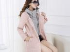 实拍秋冬装新款中长款毛呢外套女装加厚韩版修身羊毛呢子大衣