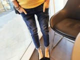2014新款韩国孕妇装孕妇牛仔裤 牛仔哈伦裤厂家直供优质货源W1