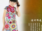 夏季潮 儿童旗袍 女童连衣裙 蕾丝边公主裙 六一演出服 礼服