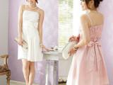 8200新款吊带连衣裙时尚派对必备色丁小礼服裙胖mm韩版晚装小礼服