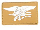 魔术贴章 战术徽章 徽标 肩章 粘贴臂章 橡胶胸章 徽章泥色海豹