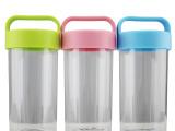 双层塑料杯子带盖批发便携防漏水杯口杯创意广告茶杯定制印字