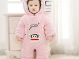 婴儿冬季连体衣外出服加厚 男女宝宝冬款棉衣爬服厚