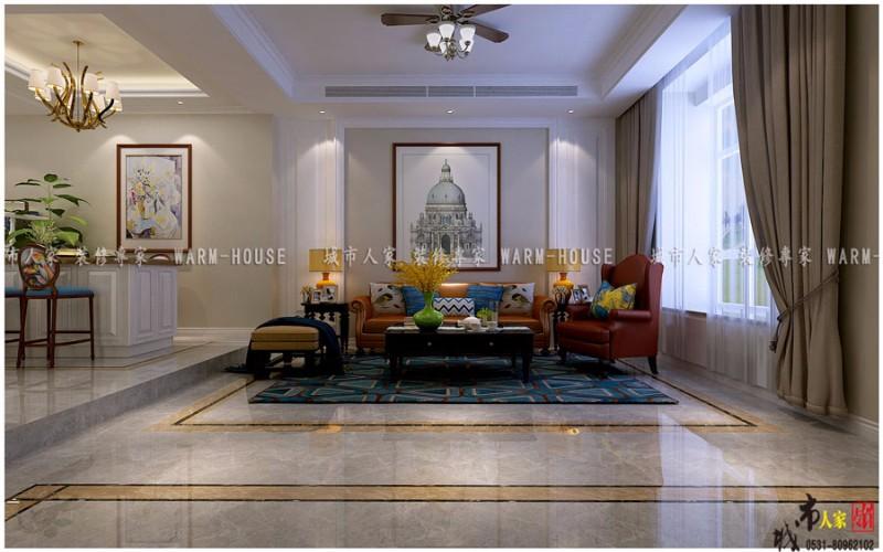 华山珑城别墅现代雅致风格装修设计效果图