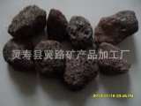 河北省火山石厂供应燃气火山石烧烤炉专用3-5cm火山石