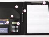 合肥鼎力文件夹多功能商务计算器经理文件夹A4大小皮质批发