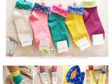 日系糖果色堆堆袜子 春秋韩国可爱薄翻边袜