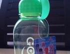 带盖塑料水杯水壶便携大容量礼品透明耐高温提绳随身杯