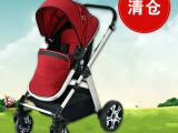 欧美婴儿推车铝管可坐躺轻便折叠双向四轮避震童车bb手推车