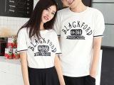 实拍情侣装短袖t恤夏装新款宽松蝙蝠衫女韩版情侣半袖 厂家直销