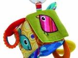Lamaze获奖玩具四方铃铛积木牙胶响纸-床挂婴儿玩具